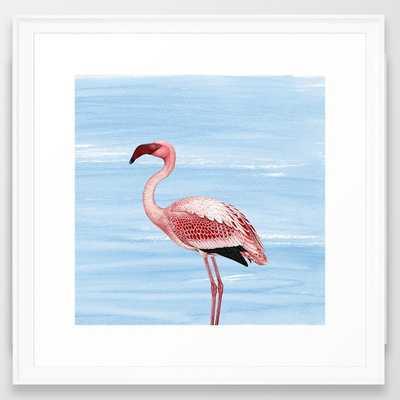 """Flamingo - 22"""" x 22"""" - Framed - Society6"""