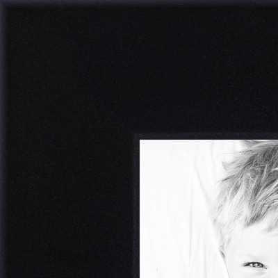 Rabbet picture frame with Regular Plexi Glass - Black - arttoframe.com