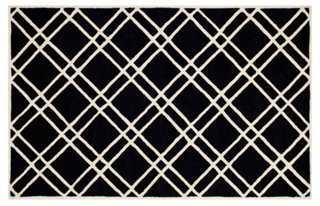 Alicia Rug, Black/Ivory-8' x 10' - One Kings Lane