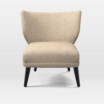 Retro Wing Chair - Boucle, Wheat - West Elm