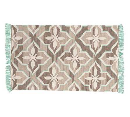 Trina Rug - Brown/Turquoise - Pottery Barn