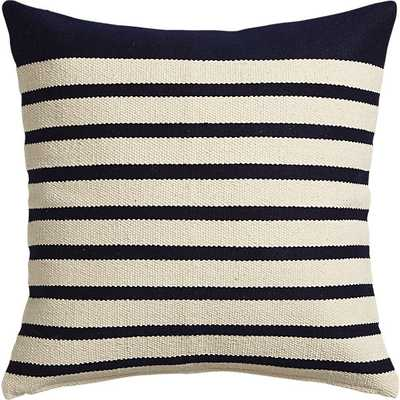 """Division navy 20"""" pillow- With insert - CB2"""