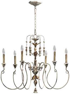 Quorum Salento 6-Light Persian White Chandelier - Lamps Plus