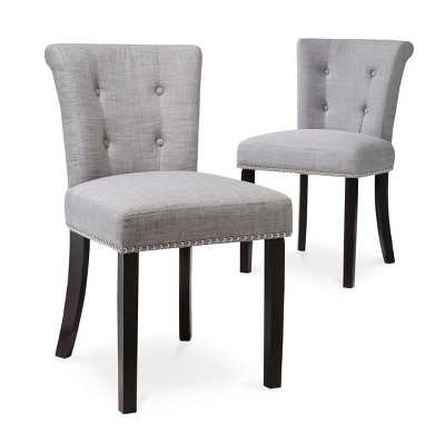 Scrollback with Nailhead Dining Chair - (Set of 2) - Target