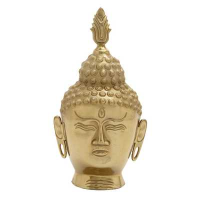 Bold and Peaceful Aluminum Buddha Bust - AllModern