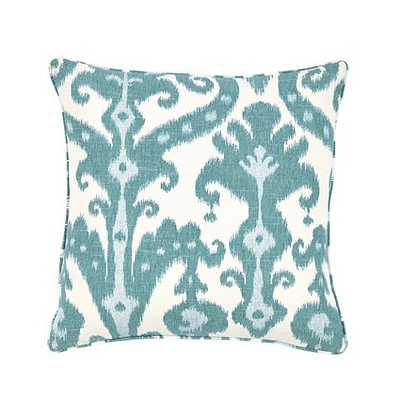 Tahiti Pillow - Peacock, 20x20, With Insert - Ballard Designs