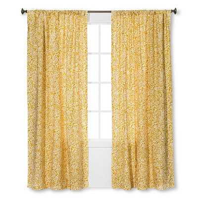 "Floral Paisley Curtain Panel - Thresholdâ""¢- 54 W x 84 L - Target"