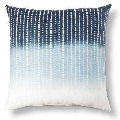 "Embroidered Dots Decorative Pillow - Blue - 18"" L x 18"" W - Cotton fill - Target"