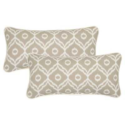 """2-Piece Outdoor Lumbar Pillow Set - Thresholdâ""""¢ - Target"""