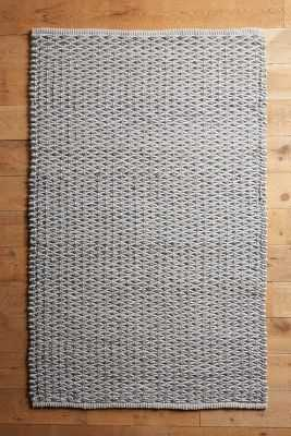 Fisherman's Rug - Grey; 8' x 10' - Anthropologie