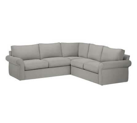 Pearce Slipcovered 2-Piece L-Shape Sectional - Pottery Barn