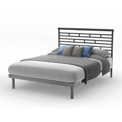 HighWay Slat Panel Bed - Magnetite - Full - AllModern