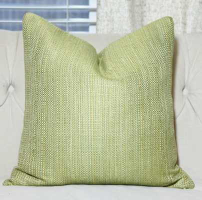 """Green Pillow Cover- 20""""Wx20""""H- Insert Sold Separately - Etsy"""