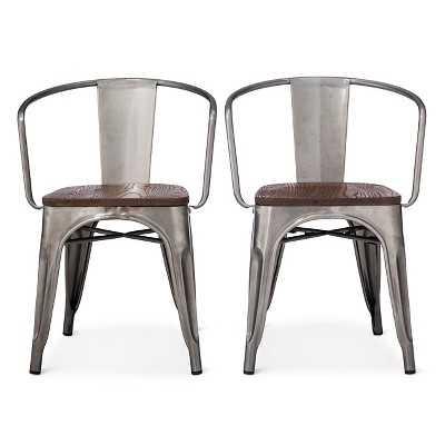Carlisle Wood Seat Dining Chair - Natural Metal (Set of 2) - Target