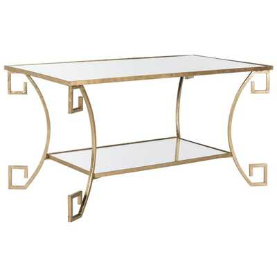 Safavieh Yasemeen Antique Gold Leaf Coffee Table - Overstock