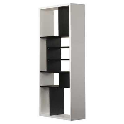 "Micah 71"" Standard Bookcase - Black / White - AllModern"