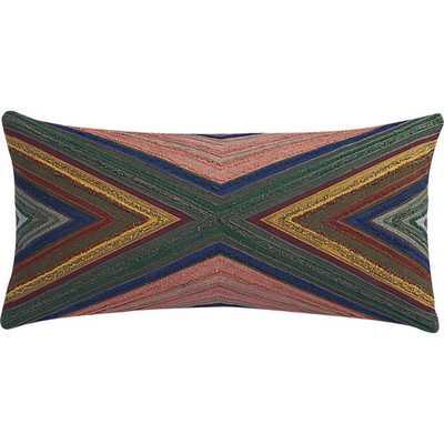 Wisdom pillow - Grey- 23x11, With Insert - CB2