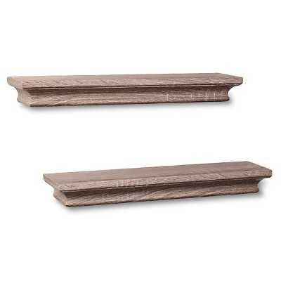 "Thresholdâ""¢ Set of 2 Traditional Shelves - Graywash (15.75"") - Target"
