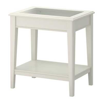 LIATORP Side table, white, glass - Ikea