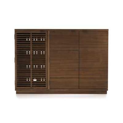 Marin Shiitake Large Bar/Media Cabinet - Crate and Barrel