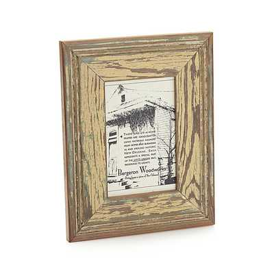 Salvaged Wood 4x6 Picture Frame - Crate and Barrel