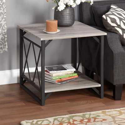 Simple Living Seneca XX Black/ Grey Reclaimed Look End Table - Overstock