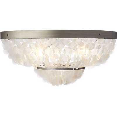 Capiz flush mount lamp - CB2