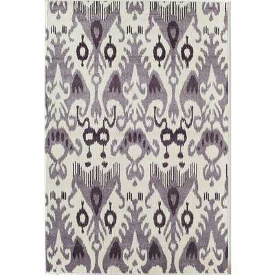 Ikat Purple Area Rug (5' x 8') - Overstock