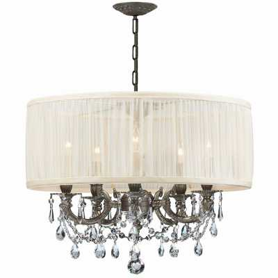 Pewter Gramercy 5 Light Single Tier Chandelier - lightingdirect.com