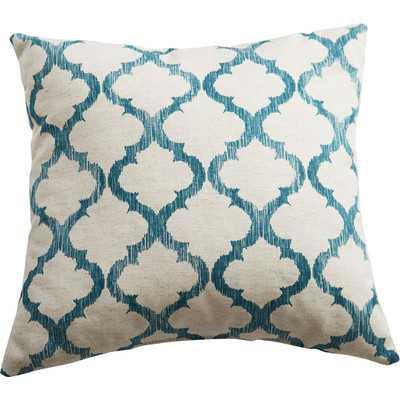 """Linen Throw Pillow-Teal-  17"""" H x 17"""" W x 4"""" D- Polyester/Polyfill - Wayfair"""
