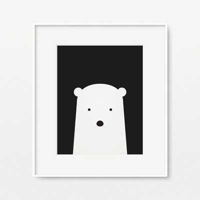 Polar bear nursery wall art - Etsy