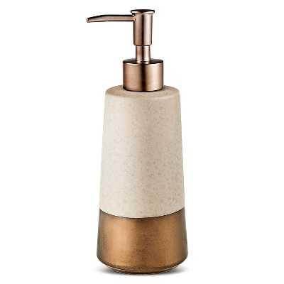 Cement Soap Pump Warm Metal - Target