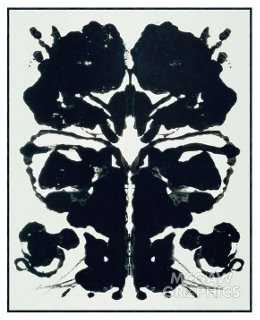 "Andy Warhol, Rorschach, 1984- 35.5""L x 28.5""W x 1.875""D- Black frame - One Kings Lane"