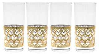 S/4 Valencia Cooler Glasses, 15 Oz - One Kings Lane
