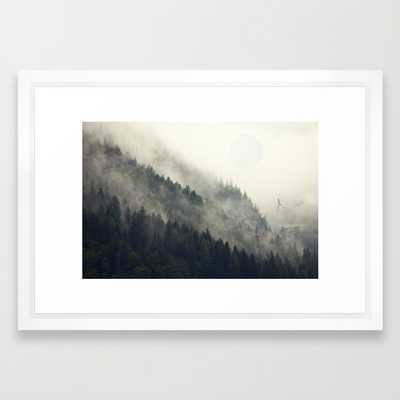 "FRAMED ART PRINT/ VECTOR WHITE SMALL (21"" X 15"") - Society6"