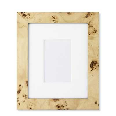 """Exotic Burl Wood Gallery Picture Frame - 5"""" X 7"""" - Williams Sonoma"""