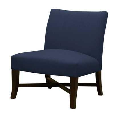 Cross Legged Slipper Chair - Jefferson Navy - Wayfair