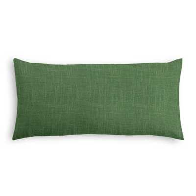 "Simple Lumbar Pillow: Classic Linen Fairway-12"" L X 24"" W-with insert - Domino"