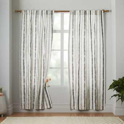 Watercolor Stripe Printed Curtain - West Elm