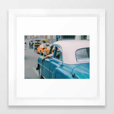 CUBA FRAMED ART PRINT VECTOR WHITE MINI - Society6