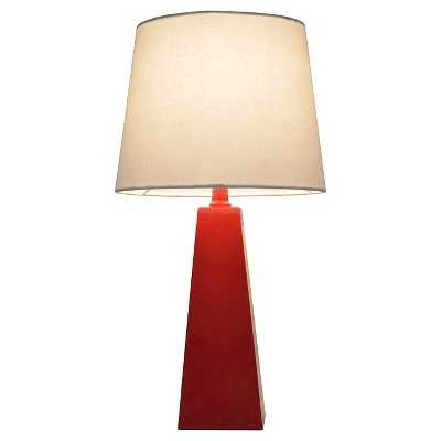 Tapered Table Lamp - red - Target