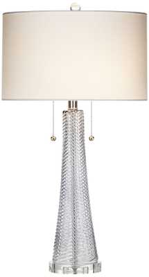 Possini Euro Miriam Gray Glass Table Lamp - Lamps Plus