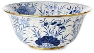 """15"""" Lotus Bowl, Blue/White - One Kings Lane"""