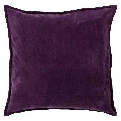 "Cotton Velvet Toss Pillow - Eggplant; 18"" x 18"" - Target"
