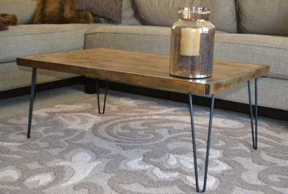 Rustic Modern Coffee Table - Dark Walnut, Black - Etsy