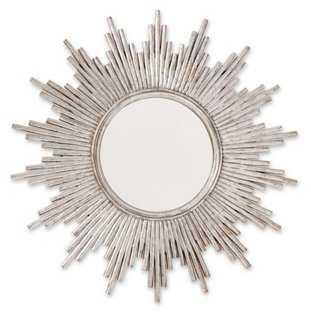 Metallic Sunburst Mirror, Silver - One Kings Lane