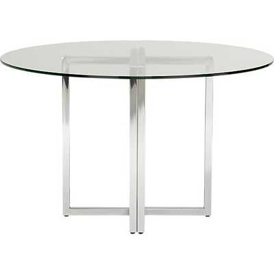 "silverado chrome 47"" round dining table - CB2"