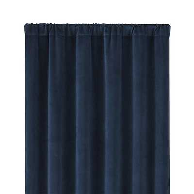 "Windsor Midnight Curtain Panel - Midnight,- 48""Wx108""H - Crate and Barrel"