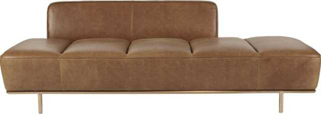 Lawndale leather daybed - CB2