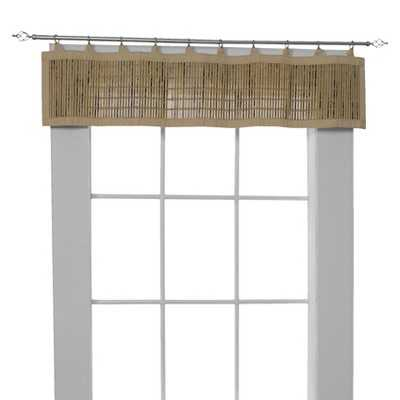Versailles Bamboo Ring Top Window Valance-Wheat - Target